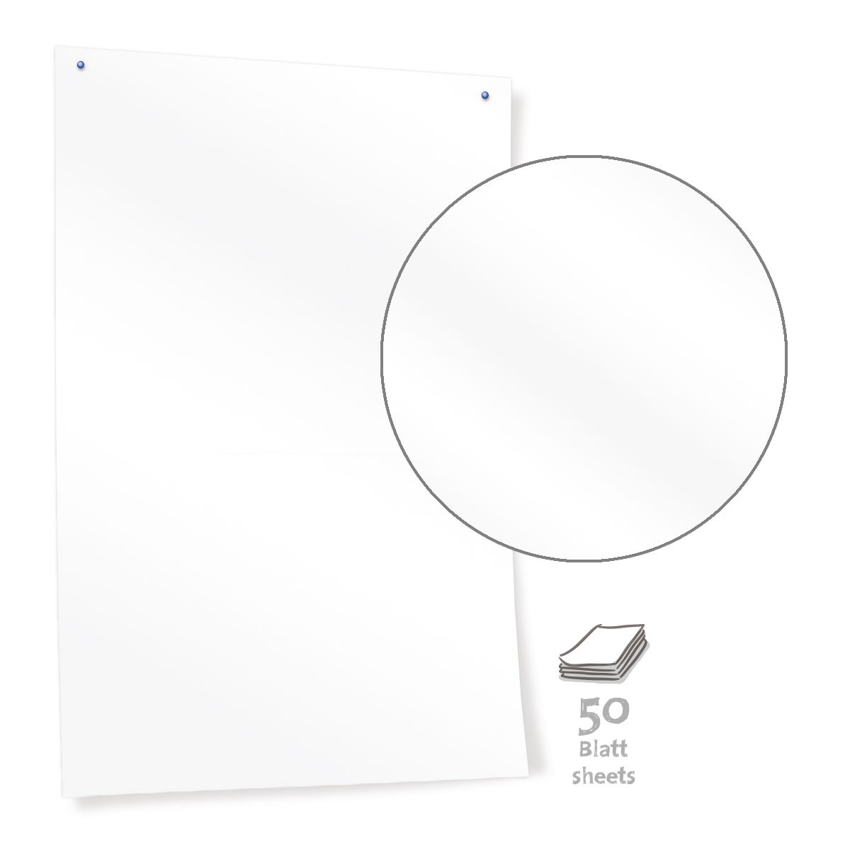 White Pinboard Paper 50 listů
