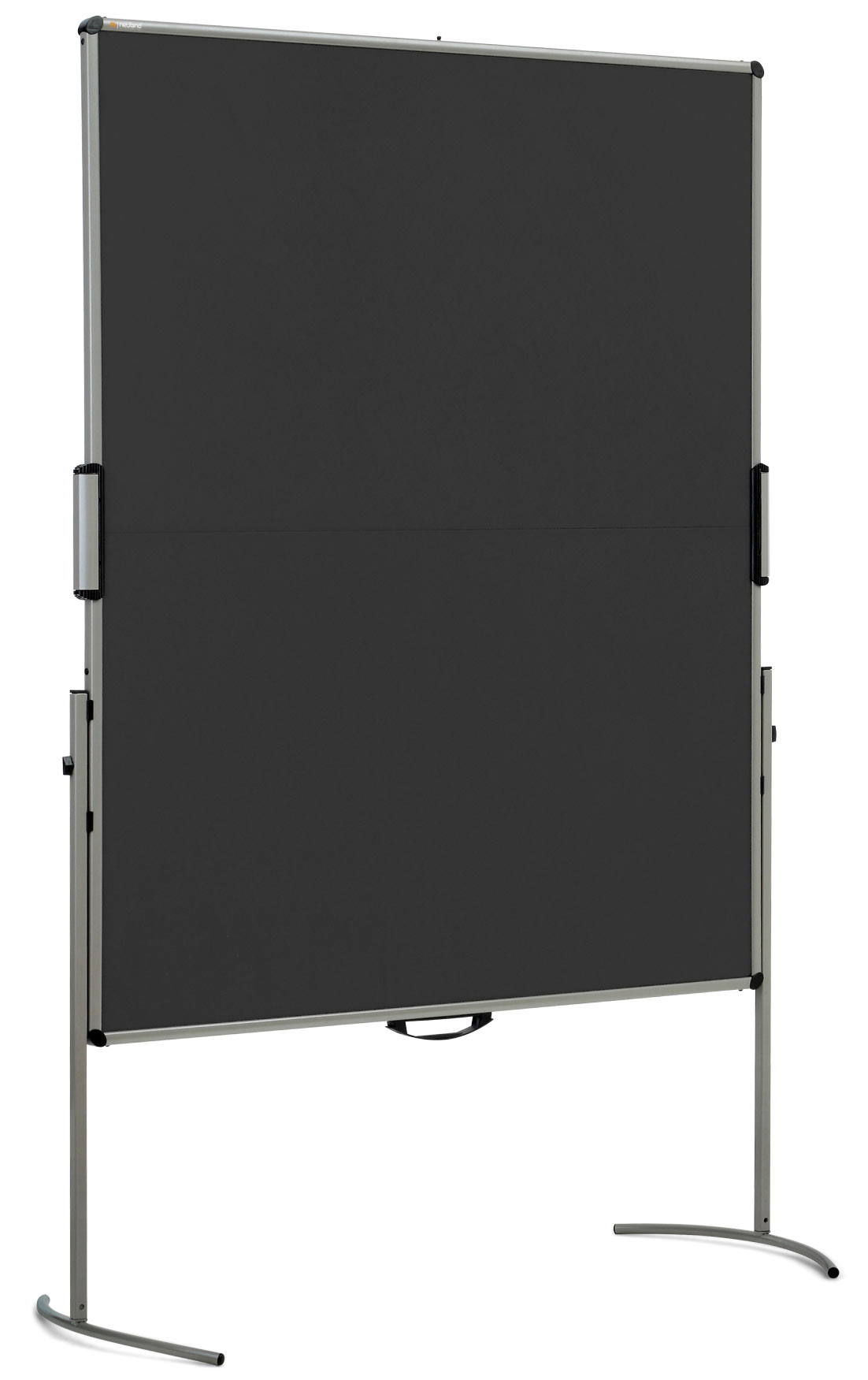 UniPin® 2 MC-B Pinboard: grey alu/black foam board