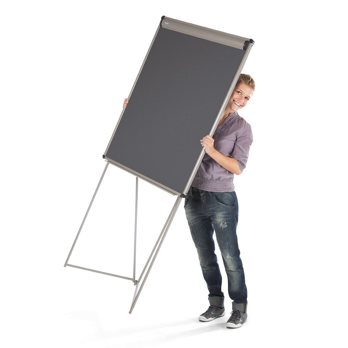 EuroFlip® FlipChart: grey alu/black foam board