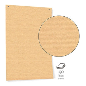 Pinboard Paper, economy brown 50 sheets/box