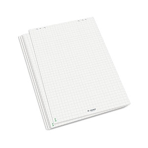 FlipChart Paper, bright white - checker, 5 bloků,  role